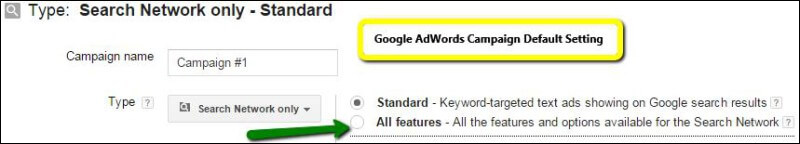 Select Search Network Adwords