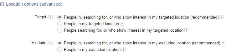 Adwords Settings