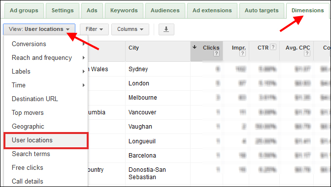 adwords location targeting