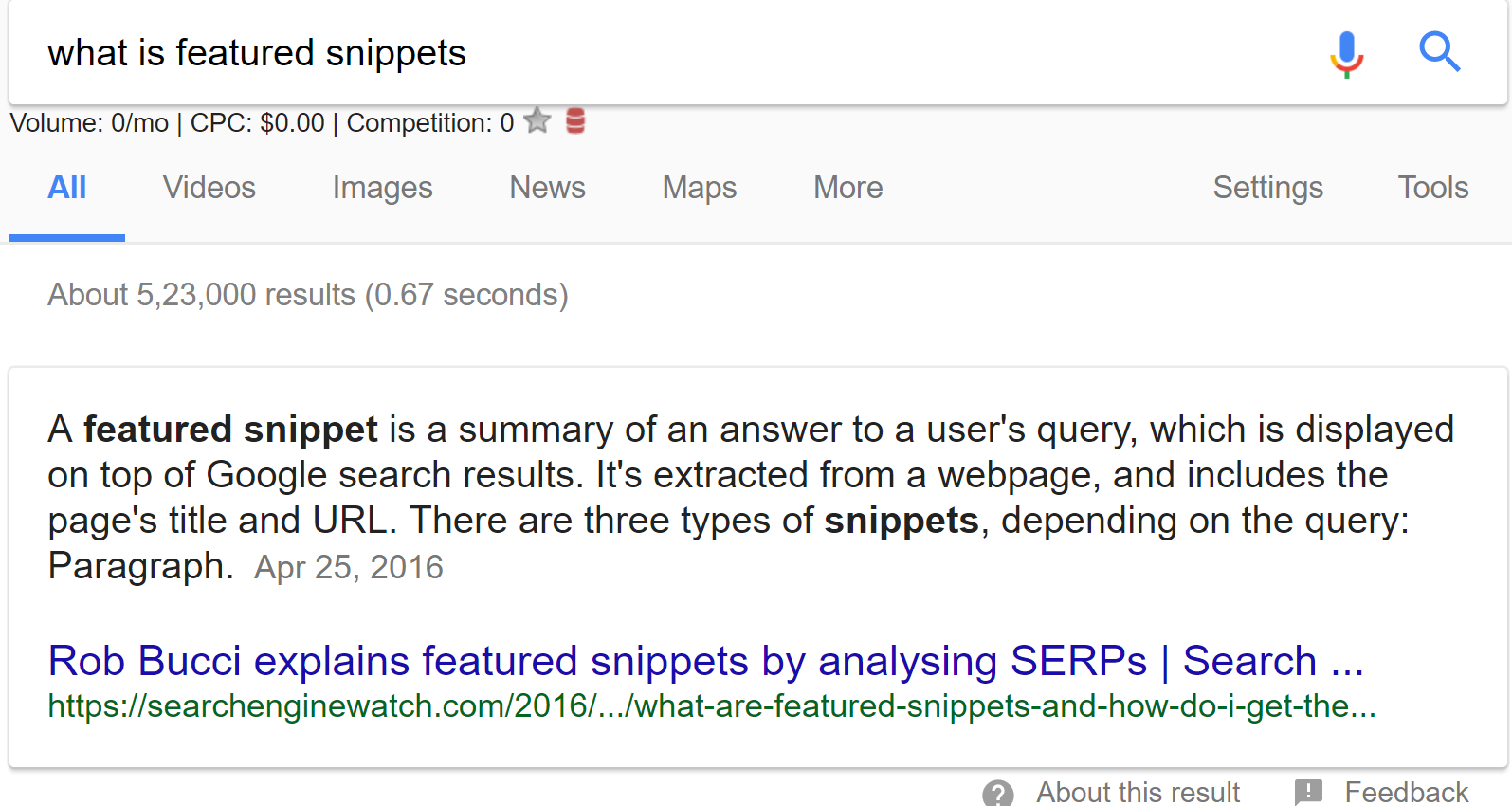 What is Featured Snippet