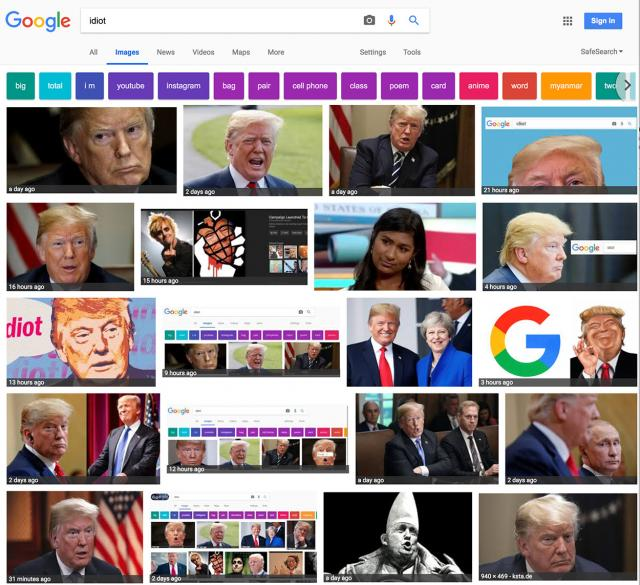 google-images-idiot-trump-googlebomb-before