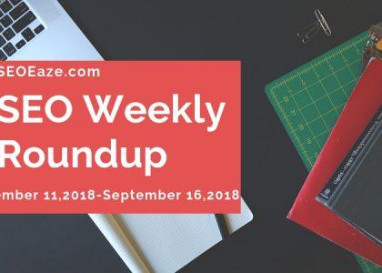 SEO WEEKLY roundup